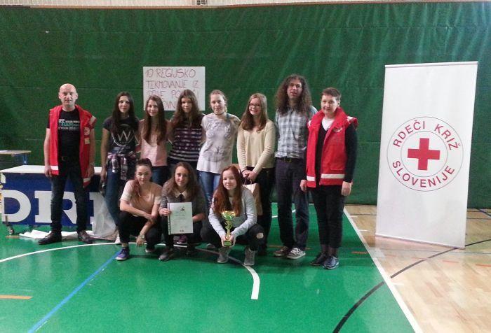Zmaga naše ekipe prve pomoči na regijskem tekmovanju