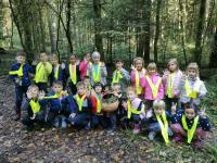 Učilnica v gozdu - 1. a
